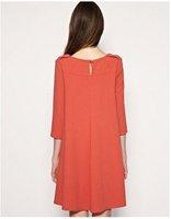 винтаж трикотажное платье очаровательная 3/4 платье с рукавами