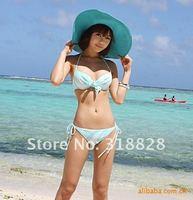 сексуальный прекрасный широкий проволока краев лето пляж солнца солома флоппи-бей шляпа