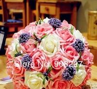 продаж, 30 роза цветы свадебные вручную цветок / свадьба бросить букет / необходимых для фотосъёмки / модель цветок