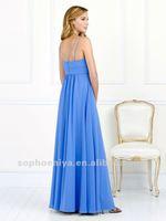 Уэйд платье эффект онлайн спагетти стап империи длиной до пола, вечерние вечерние платья синий