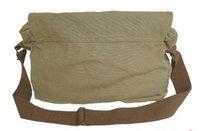 моющийся брезент + натуральная кожа слинг мешок мужчины посланник наплечная сумка почтальон мешок 2361 ладони зеленый