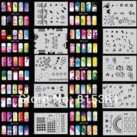 красивый дизайн аэрограф ногтей краска комплект дизайн комплект МДж-009 бесплатная доставка