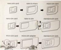 микро-адаптера сим-карты нано-SIM-карты адаптер, 4 в один с розничная упаковка, высокое качество лучшая цена Alba гонконг