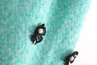 горячая стиль бесплатная доставка новинка женщин высокое качество шерстяные свободного покроя без рукавов печать платье с меховым воротником 3 цветов