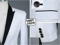 горячая мужской костюм, мужская фирменное наименование костюм, удар цвет черный принес белый костюм отдыха размер : мл-хl
