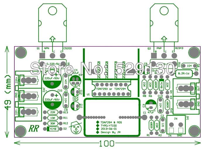 transistor 2sc5200 amplifier circuit datasheet