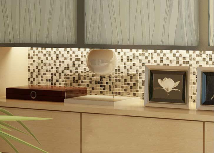Crystal Glass Backsplash de la cocina de azulejos hielo grieta ...