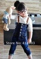бесплатная доставка 5 шт./лот детской одежды детская одежда подтяжк брюки комбинезоны брюки популярные девушки красивые джинсы