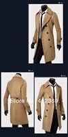 бесплатная доставка новых людей двубортный шерстяное пальто с