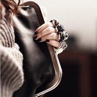 судовой бесплатный дамские сумочки, клатчи день череп клатч-кастет, стильные сумки личности дизайн, череп главы сумка