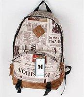 новый высокое качество Европа вентилятор газета шаблон рюкзак рюкзак должен