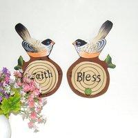 одна пара из красочных мандарин утка вешалки / одежда вешалки / вешалки дерево / домашнее украшение