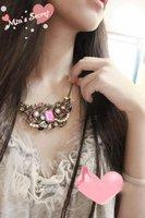 бесплатная доставка - винтаж агат ожерелье - платье ожерелье - богемия ожерелье