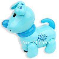 бесплатная доставка прекрасный щенок QQ в электронных домашних животных с QQ игрушка-пальто с музыка, свет и функция ходьбы