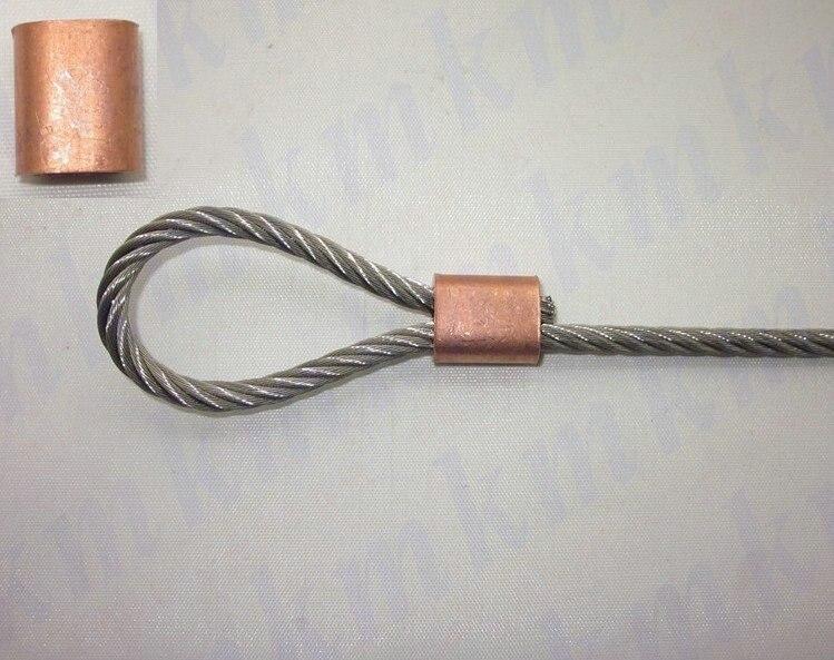 Aliexpress.com : Buy 1000PCS single hole oval type 1.5MM wire rope ...