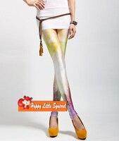новый 2016 сексуальная мода женские леггинсы леди новинка звезд галактики космическое пространство галстук краситель отражающие леггинсы брюки оптовая продажа ddk521