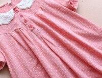 мори девушка питер пэн воротник кружево хлопок горошек каваи милые куклы рубашка топ