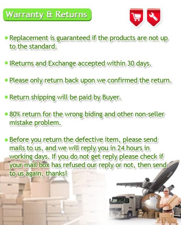 warranty & return