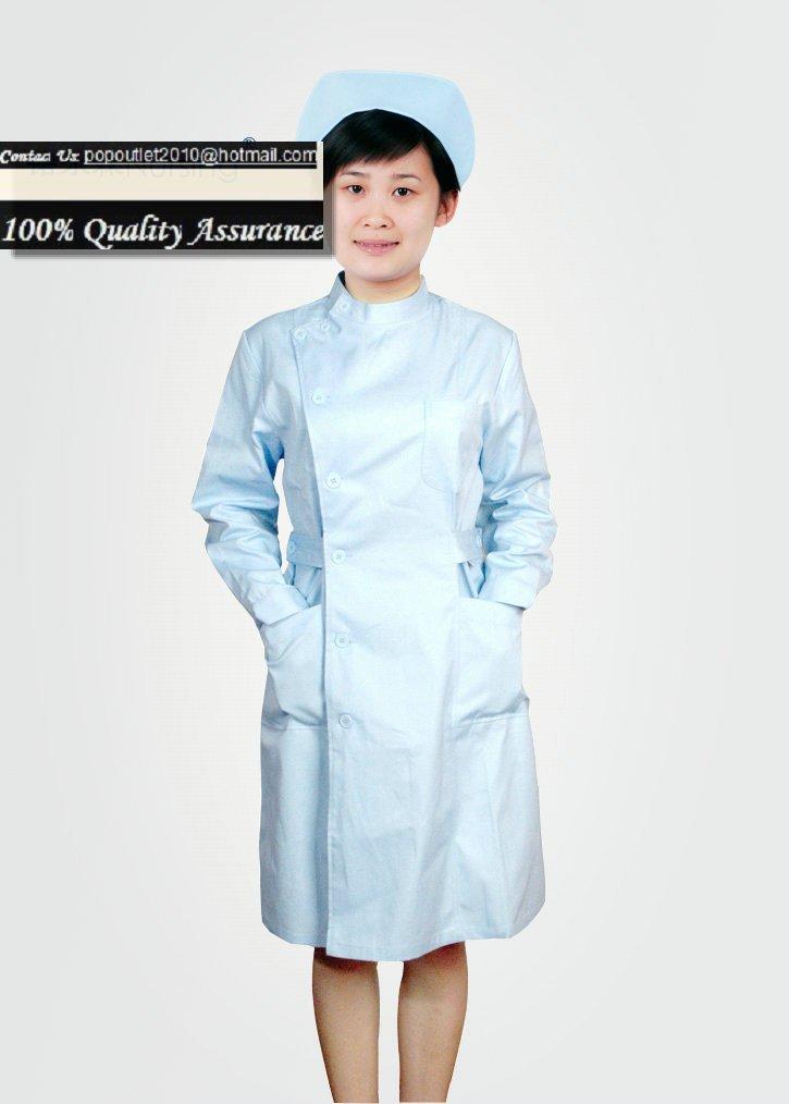 Blue Hospital nursing gowns nurse uniform dress nursing uniforms ...