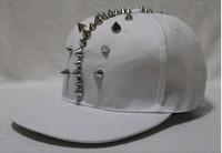 блеск красочные драгоценности шляпы бейсболки шипованных спайк заклепки шляпа панк стиль мода головные уборы хип-хоп бейсболки шляпы