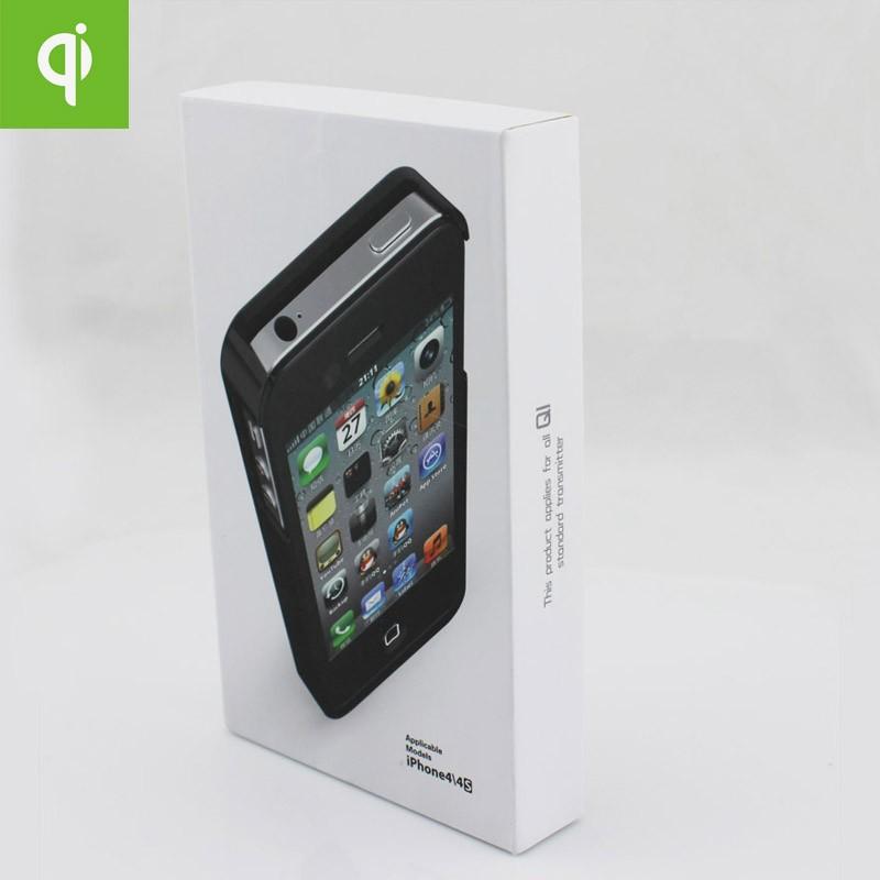 новый 1 шт. черный цвет ки стандарт беспроводной зарядки зарядное устройство prim 5 в айфон 4 для iPhone 4 и 4S бесплатная доставка