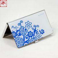 бесплатная доставка визитным карточкам удалось установить органайзер коробка пакет синий и белый для бизнес-подарки металла