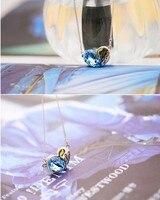 письмо Pack в форме сердца кристалл ожерелье