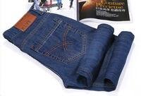 мода мужская зимняя одежда тонкие прямые джинсы длинные брюки прилив jänese высокое качество