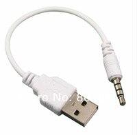 хорошее качество 3.5 мм на кабель USB-кабель синхронизации данных USB кабель для данных кабель-адаптер для iPod перетасовать 2-го поколения mp3 и mp4 телефон