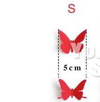 12 шт. 3д atickers поделки бабочка 5 см трехмерная спальня кровать клей сплетница бабочка вселенная домой decration для
