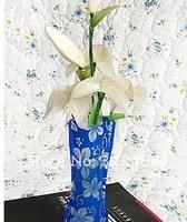 200 шт./лот ра цветок декор ваза цветок бутылка пластик нерушимая складной многоразовые большой для вечеринки кейтеринг