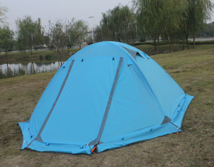 Does not apply & Orange Tent Double Layer 2 Person 4 Season Outdoor Camping Wind ...