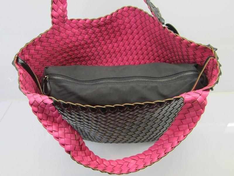 Nova moda feminina tecido saco duplo cores