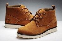 мода мужская британских туристов, ботинки натуральной замши хлопка-ватник туфли мартин booot обувают зима снег обуви шнуровкой 5 цветов