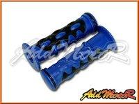 универсальный мотоциклов руле резиновые накладки синий lg72 + бесплатная доставка