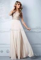 изящные платья новинка из бисера тюль шифон три четверти рукавом длиной до пола, белый выпускного вечера платья вечернее ну вечеринку платье