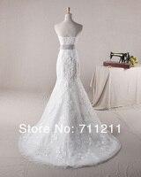 модных бисером и аппликация милая тюль русалка свадебное платье