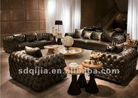 в античная кожаная мебель честерфилд гостиной диван