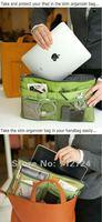 мода дамы зеленый нейлон с iPad вставить тонкий в МЭК организатор чехол кошелек / бесплатная доставка! a04
