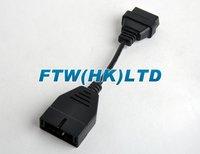 авто OBD корабли II диагностический кабель 16 п женщина для джиэм Дэу 12 п кабель obd2 16pin кабель для obd2 в авто-адаптер разъем