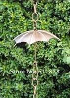 2 шт. х 182 см зонтик забил меди дождь цепи, 100% меди, с водостоков адаптер бесплатная