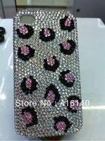 бесплатная доставка 7 цветов Роско побрякушки леопарда гр rustle с кристалл чехол для iPhone 4 и 4S 5