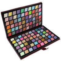 бесплатная доставка профессиональный 120 цвет тени для век с кожаный чехол комплект тени для век и тени для век палитра макияж