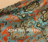 синий с цветок женские платья Chess печать старинные платье с печати бесплатная доставка 5 шт./лот # gqz801