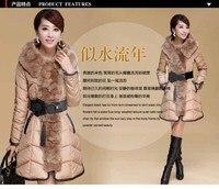 миго бесплатная доставка бренд корейский стиль женское пальто зима экстра-толстый меховым воротником утка пуховик женский парки