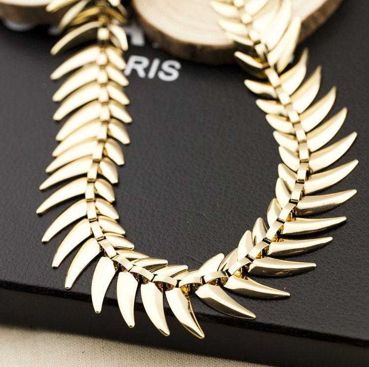 мода золотой цвет сплава большой коренастый ожерелье цепи для женщин ювелирные изделия lx099