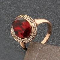 новый оптовая продажа леди кольца # cr1210 мода и прекрасно розового золота роскошные палец кольцо кристаллы горный хрусталь кольца