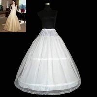 лучшие продажи дешевые 2-хуп свадебное платье петтикота скольжения нижняя