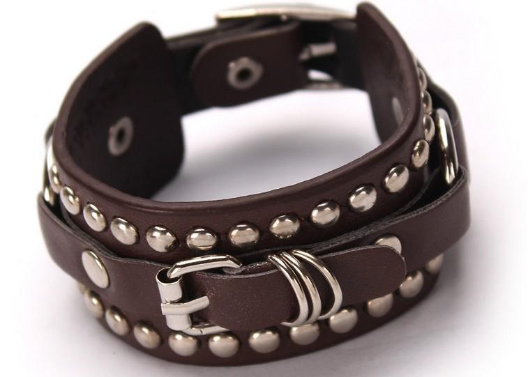 женщина мода браслет заклепки ремень с пряжкой браслет бесплатная доставка