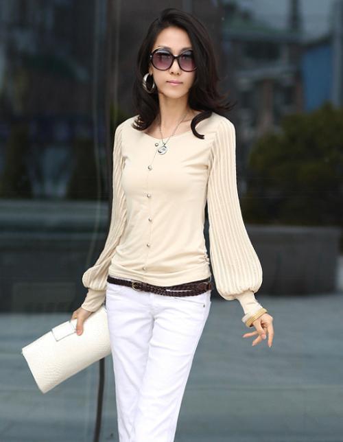 006 женщины 3 D цвета Chef рукав-далеко patchwork т рубашки дамы весна блузка платье верхний